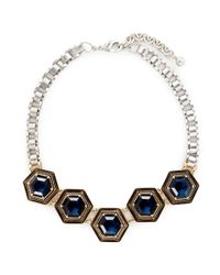 Lulu Frost | Metallic 'nicandra' Glass Crystal Arched Chain Necklace | Lyst