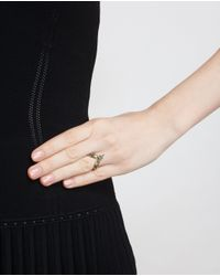 Yvonne Léon | Green 18K Yellow Gold And Tsavorite Leaf Ring | Lyst