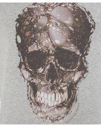 Alexander McQueen - Gray Victorian Skull T-Shirt for Men - Lyst