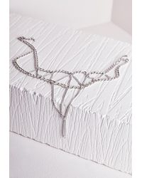 Missguided - Metallic Multi Layer Foot Chain Silver - Lyst