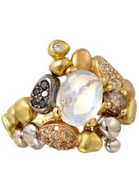 Paul Morelli - Metallic Gold Diamond and Moonstone Summer Pebble Ring - Lyst