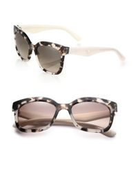 Prada - Natural Oversized Square Sunglasses - Lyst