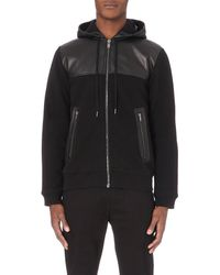 Marc By Marc Jacobs | Black Luke Leather-trim Hoody for Men | Lyst