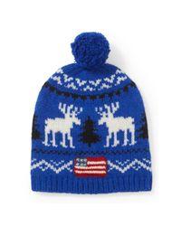 Polo Ralph Lauren | Blue Reindeer Wool Cap for Men | Lyst