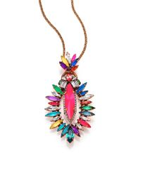 Erickson Beamon | Multicolor Telepathic Crystal Marquis Long Pendant Necklace | Lyst