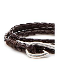 Forever 21 | Brown Braided Faux Leather Hook Bracelet for Men | Lyst