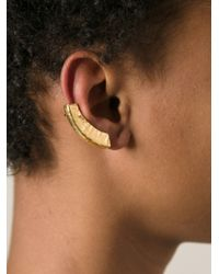 Bjorg | Metallic Reflecting Spheres Earrings | Lyst