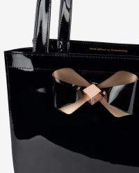 Ted Baker | Black Bow Detail Large Shopper Bag | Lyst