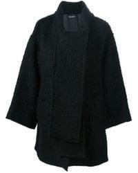 Dolce & Gabbana - Black Scarf Detail Boxy Coat - Lyst