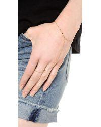 Jennifer Zeuner - Metallic Madrid Hand Chain - Lyst
