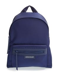 Longchamp | Blue 'small Le Pliage Neo' Nylon Backpack | Lyst