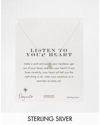 Dogeared - Metallic Sterling Silver Listen To Your Heart Locket Charm Heart Necklace - Lyst