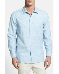 Tommy Bahama | Blue 'jacquard Mon' Original Fit Sport Shirt for Men | Lyst