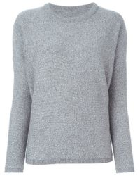Vince - Gray Crew Neck Sweater - Lyst