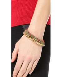 Aurelie Bidermann | Natural Do Brasil Bracelet - Khaki/red | Lyst