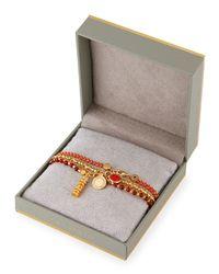 Astley Clarke - Red Double The Luck Charm Bracelets - Lyst
