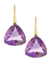 Roberto Coin - Blue 18k Gold Ipanema Amethyst Earrings - Lyst