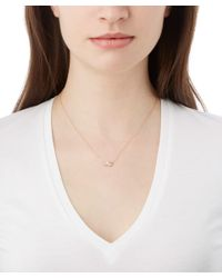 Kismet by Milka - Metallic Gold White Diamond Necklace - Lyst