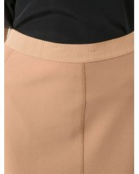 By Malene Birger - Natural Exposed Seam Pencil Skirt - Lyst