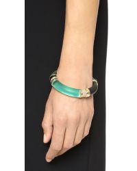 Alexis Bittar | Colorblocked Hinge Bracelet - Leaf Green | Lyst