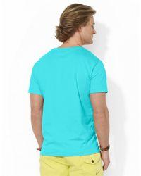 Polo Ralph Lauren   Blue Jersey V-Neck T-Shirt for Men   Lyst