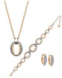 Swarovski - Metallic Bracelet And Earring Set - Lyst