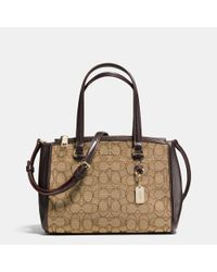 COACH | Metallic Stanton Carryall 26 In Signature Jacquard | Lyst