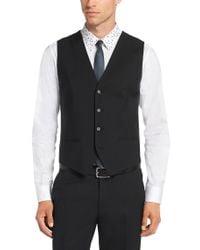 HUGO | Black Waistcoat In New Wool: 'wel' for Men | Lyst
