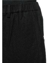Ziggy Chen - Black Elastic Waist Brushed Wool Twill Pants for Men - Lyst