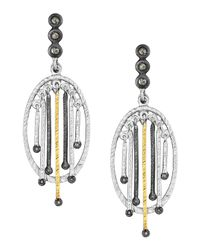 Coomi - Metallic Spring Tricolor Earrings With Diamonds - Lyst