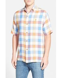 Tommy Bahama | Multicolor 'cabana Time Plaid' Original Fit Check Silk Camp Shirt for Men | Lyst