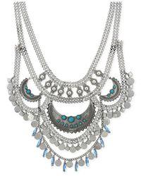 BCBGeneration - Metallic Silver-tone Multi-row Drama Necklace - Lyst