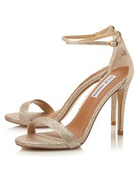 Steve Madden - Metallic Stecy-r Sm Barely There High Heeled Sandals - Lyst