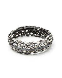 Alexis Bittar | Metallic Liquid Crystal Hinge Bracelet | Lyst