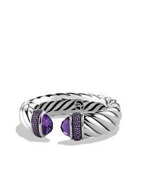 David Yurman - Purple Waverly Bracelet, 18mm - Lyst