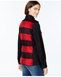 Lucky Brand | Black Plaid Contrast Jacket | Lyst