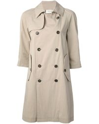 Marni | Natural Double Breasted Trench Coat | Lyst