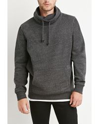 Forever 21 | Gray Heathered Funnel Neck Sweatshirt for Men | Lyst