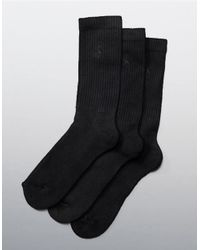Polo Ralph Lauren | Brown Combed Cotton Dress Socks 3-pack for Men | Lyst