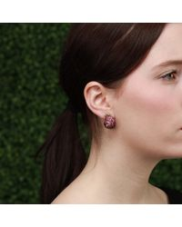 Arunashi | Multicolor Spinel And Diamond Snail Earrings | Lyst