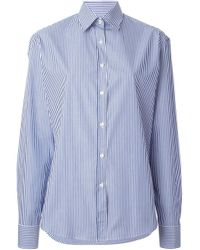 Stella Jean - Blue Striped Shirt - Lyst