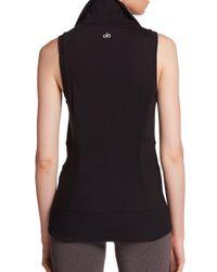 Alo Yoga - Black Lakeside Ribbed Vest - Lyst