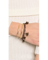 Shashi | Metallic Laila Crystal Bracelet | Lyst