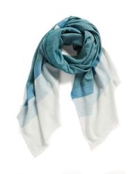 Halogen - Blue Colorblock Wrap - Lyst