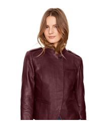 Tory Burch - Purple Leather Motorcycle Jacket - Lyst