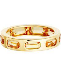 Astley Clarke | Metallic 18ct Gold Vermeil Citrine Gem Slice Ring | Lyst