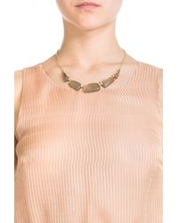 Alexis Bittar - Metallic Gold Plated Necklace With Lucite And Crystals - Gold - Lyst