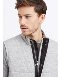 Vince - Gray Quilted Jersey Vest for Men - Lyst