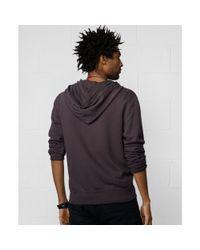 Denim & Supply Ralph Lauren - Black Zipfront Fleece Hoodie for Men - Lyst