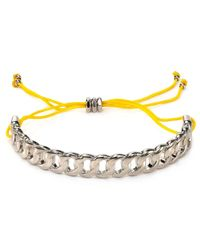Marc By Marc Jacobs - Yellow Solidly Linked Friendship Bracelet - Lyst